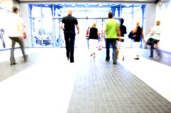 Shopping abstact. Shopping abstract. People rush motion blurred Royalty Free Stock Photography