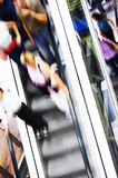 Shopping abstact. Shopping abstract. People rush on escalator motion blurred Royalty Free Stock Photos
