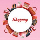 Shopping Accessories Frame Stock Images