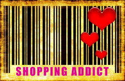 Shopping Addict Royalty Free Stock Photo