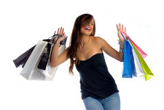 Shopping is addictive but fun Stock Photo