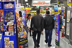 Shopping in Akihabara Electrical Town Tokyo Japan. Akihabara is a major shopping area for electronic, computer, anime, and otaku goods, including new and used Stock Photography