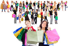 Shopping is all we need Royalty Free Stock Image