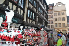 Shopping in alsace. Street shopping in alsace Stock Image