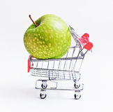 Shopping with apple Stock Images
