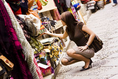 Shopping arab goods Royalty Free Stock Images