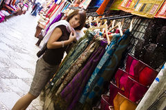 Shopping arab goods Stock Photography