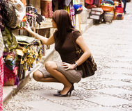 Shopping arab goods Royalty Free Stock Photo