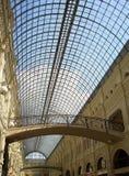 Shopping arcade. With skylight royalty free stock photo