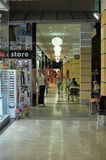Shopping arcade along the street the night Stock Image