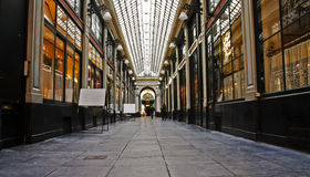 Shopping arcade in Brussels. Detail of a very old shopping arcade in Brussels Stock Photography