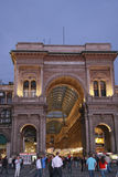 Shopping arcade center gallery Victor Emmanuel Royalty Free Stock Images