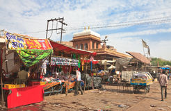 Shopping arcade in the city of Jodhpur. Rajasthan, India Royalty Free Stock Image