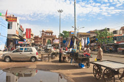 Shopping arcade in the city of Jodhpur. Rajasthan, India Royalty Free Stock Photography