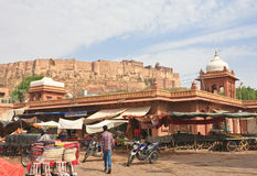 Shopping arcade in the city of Jodhpur. Rajasthan, India Stock Photography