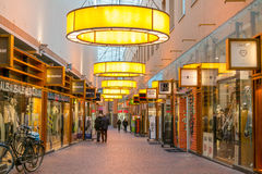 Shopping arcade in Hilversum, Netherlands Stock Photo