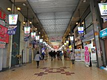 Shopping Arcade, Himeji, Japan. A shopping arcade off the main road from the train station to Himeji Castle, Himeji, Japan Stock Photography