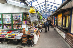 Shopping arcade at the market Stary Kleparz in Krakow Stock Photography