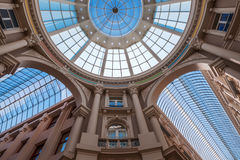 Shopping arcade Passage in The Hague, Netherlands. Glass roof of the shopping arcade Passage in The Hague, Netherlands Stock Photography