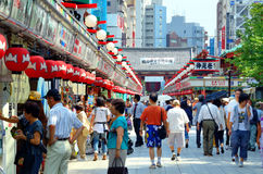 Shopping Arcade in Tokyo stock images