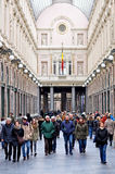 Shopping arcades, Brussels, Belgium Stock Photo
