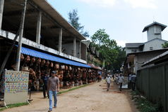 Shopping arcades in Pinnawala. Stock Images