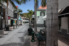 Shopping area on Back Street in Philipsburg Royalty Free Stock Image