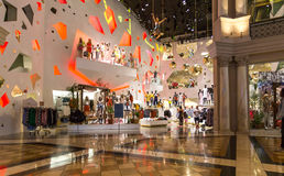 Shopping area in Caesars Palace Forum in Las Vegas Royalty Free Stock Photos