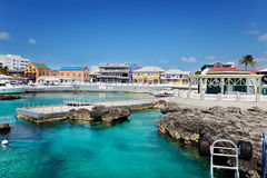 Shopping area in Georgetown. Waterfront shopping area in Georgetown, Grand Cayman royalty free stock images