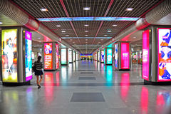 Shopping area at guangzhou metro station, china Royalty Free Stock Images