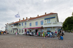 Shopping area at Marstrand. Royalty Free Stock Images