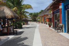 Shopping Area. Port of call Cozumel Mexico Stock Image