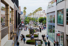 Shopping area Santa Monica California Stock Images