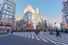 Shopping area in Shinjuku Stock Image