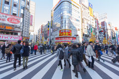 Shopping area in Shinjuku Royalty Free Stock Images