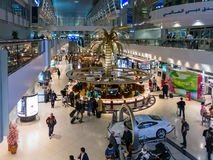 Shopping area in terminal of Dubai Inernational Airport Stock Images