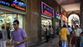 Shopping area in Tunis stock video