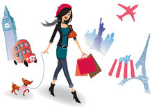 Shopping around the world Stock Images
