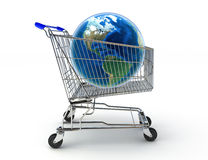 Shopping around the world concept. Texture from www.nasa.gov Royalty Free Stock Photos