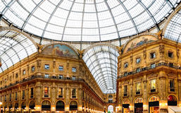Shopping art gallery in Milan Stock Image