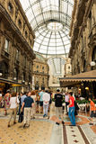 Shopping art gallery in Milan. Galleria Vittorio Emanuele II, It Stock Photography