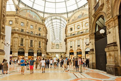 Shopping art gallery in Milan. Galleria Vittorio Emanuele II, It Royalty Free Stock Photo