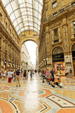 Shopping art gallery in Milan. Galleria Vittorio Emanuele II, It Royalty Free Stock Photography