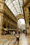 Shopping art gallery in Milan. Galleria Vittorio Emanuele II, It Royalty Free Stock Photos