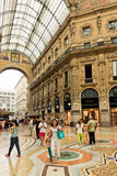 Shopping art gallery in Milan. Galleria Vittorio Emanuele II, It Royalty Free Stock Images