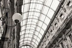 Shopping art gallery in Milan, Italy Stock Photos