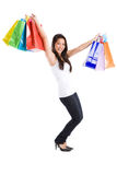 Shopping asian girl Stock Photography