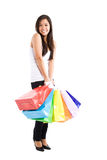 Shopping asian girl Royalty Free Stock Images