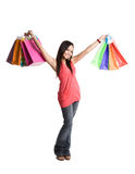 Shopping asian girl Stock Image