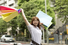 Shopping asian woman Royalty Free Stock Photography